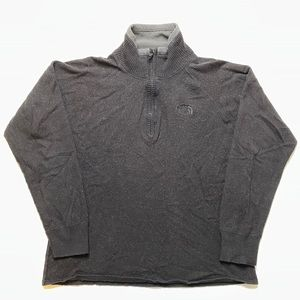 The North Face Wool Cotton Jacket 1/4 ZIP Pullover